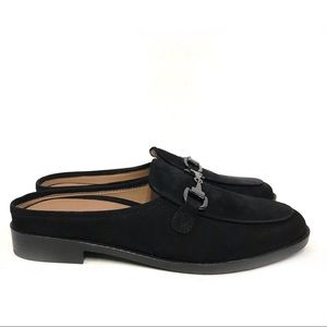 Vionic Salie Black Leather Bit Mule